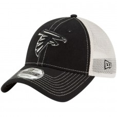 Men's Atlanta Falcons New Era Black Rustic Mark Trucker 9TWENTY Adjustable Hat 2977368