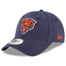 Men's Chicago Bears New Era Navy NE Core Fit 49FORTY Fitted Hat 2593999