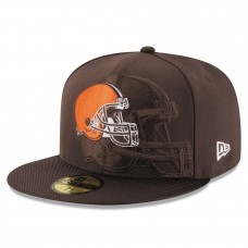 Men's Cleveland Browns New Era Brown 2016 Sideline Official 59FIFTY Fitted Hat 2419593