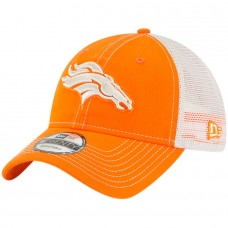 Men's Denver Broncos New Era Orange Rustic Mark Trucker 9TWENTY Adjustable Hat 2977373