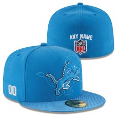 Men's Detroit Lions New Era Blue Custom On-Field 59FIFTY Structured Fitted Hat 2496966