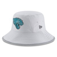 Men's Jacksonville Jaguars New Era Gray 2018 Training Camp Official Bucket Hat 3060985