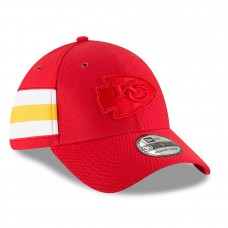 Men's Kansas City Chiefs New Era Red 2018 NFL Sideline Color Rush Official 39THIRTY Flex Hat 3062632