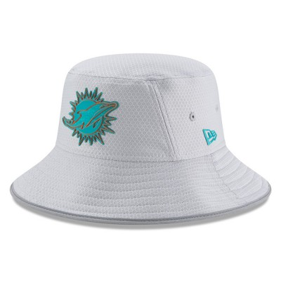 Men's Miami Dolphins New Era Gray 2018 Training Camp Official Bucket Hat 3060981