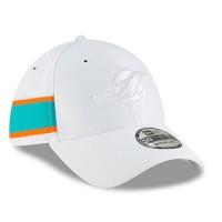 edac09fd03e Men s Miami Dolphins New Era White 2018 NFL Sideline Color Rush Official  39THIRTY Flex Hat 3062629