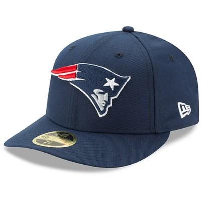 Men's New England Patriots New Era Navy Omaha Low Profile 59FIFTY Fitted Hat 2814828