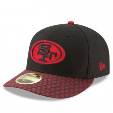 Men's San Francisco 49ers New Era Black 2017 Sideline Official Low Profile 59FIFTY Fitted Hat 2745373