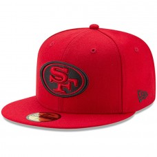 Men's San Francisco 49ers New Era Scarlet Alternate Logo Omaha 59FIFTY Fitted Hat 2539418