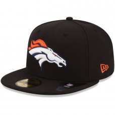 New Era Denver Broncos Black 59FIFTY Fitted Hat 1019838