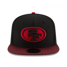 Youth San Francisco 49ers New Era Black Alt 2017 Sideline Official 9FIFTY Snapback Hat 2756245