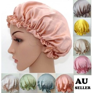 100% Pure Silk Sleep Cap Hat Sleeping Bonnet Hair Styling Protect Satin Scarves  eb-12997157