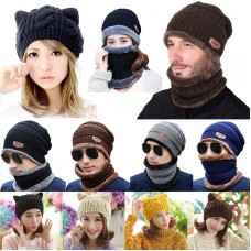 Baseball Hats For Mujer Winter NEW Horns Knitted Cat Devil Beanie Braided Cap  eb-09061003