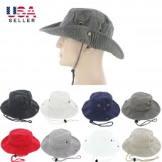 Boonie Bucket Hat Cap 100% Cotton Fishing Hunting Safari Summer Military Hombre Sun  eb-48406713
