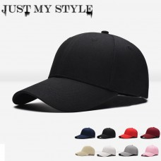 Classic Cotton Black Baseball Hat Adjustable Plain Cap HipHop Polo Style Bboy  eb-15246161