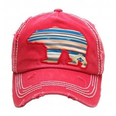 Cute Red Serape Mama Bear Kbethos Vintage Distressed Hat Ball Cap Mujers Unisex  eb-62952422