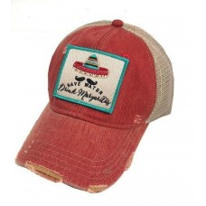 "Judith March ""Save Water Drink Margaritas"" Hat  Red  eb-36609285"
