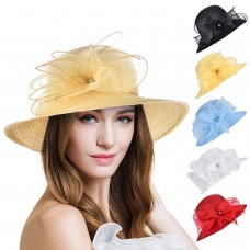 Mujers Formal Sun Floppy Hats Kentucky Derby Cap Tea Party Wedding Church A323  eb-17046095