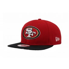 NEW ERA 950 NFL San Francisco 49ers Red Embroidered Adjustable Snapback Hombre Hat  eb-47252663