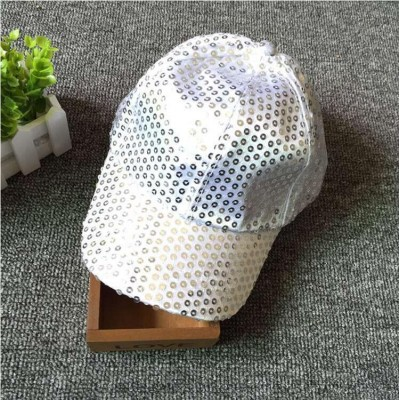 Unisex Sport Hat Outside Classic Street Style Sequins Disco Ball Cap Silver  eb-38584537