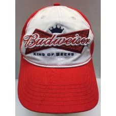 Budweiser King Of Beers Baseball Cap StrapBack Hat Mujer Embroidered White Red  eb-62064600