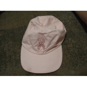 GERSON COMPANY  WOMEN'S NEW Pink Cotton BREAST CANCER RHINESTONE Hat  Adj  eb-79473813