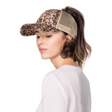 NEW CC PONYTAIL LEOPARD CHEETAH PRINT HAT BASEBALL CAP PONY TAIL TREND  eb-39658804