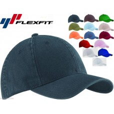 2 PACK Flexfit Garment Washed Fitted Baseball Hat Blank Plain Cap Flex Fit 6997 eb-85386687