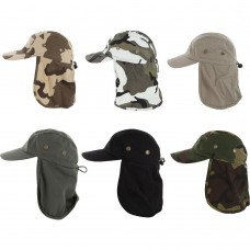 Fishing Boating Hiking Army Military Snap Brim Ear Neck Cover Sun Flap Cap New  eb-96507806