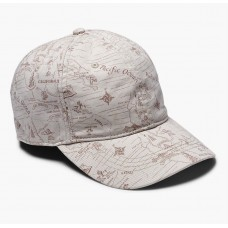 Lucky Brand Beige West Coast Map Adjustable Baseball Cap Hat Unisex One Size  eb-83874626