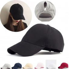 Mujer Baseball Cap Hiphop Hats Headgear Ponytail Anti UV Messy Bun Snapback   eb-61037056