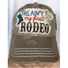 Mujer Hombre This Ain't My First RODEO Baseball Cap Western Factory Distressed Hat  eb-12373147