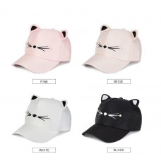 Mujers Girls Fashion Cute Cat Ears Pearl Baseball Cap Visor Hat Snapback  eb-84421273