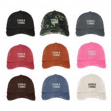 VODKA TONIC Distressed Dad Hat Embroidered Quinine Alcohol Cap Hat  Many Colors  eb-88338419
