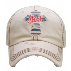 Y'all Cross Embroidered Hombre Mujer Factory Distressed Baseball Cap Stone Hat  eb-40653314