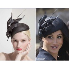 New Custom Philip Treacy Black Wedding Facinator Hat ASO ROYAL  eb-63729944