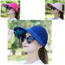 Cap Mujer Summer AntiUV Sun Protection New Foldable Casual Wide Brim Travel Hat  eb-94170632