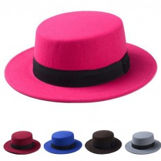 Hombre Mujer Boater Hats Sailor Wide Brim Fedora Trilby Caps Sombrero Sunhat Wool  eb-21241766