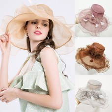 Mujer Fashion Sun Hat Floppy Mesh Wide Brim Hat Casual Summer Beach Cap 6 COLORS  eb-48733751