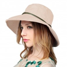 Mujer's Summer Linen Bucket Sun Hat with Wooden Bead  Beige  eb-81488258