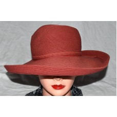 San Diego Hat Co Brick Red Floppy Wide Brim w/ Side Bow Mujers Sun Hat One Size   eb-21619601