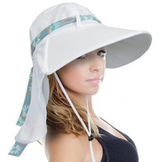 Sun Blocker Mujer's Sun Hat Large Brim Beach Travel Fishing Hat with Neck Flap  742010035770 eb-07650977