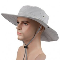 Surblue Wide Brim Cowboy Hat Collapsible Hats Fishing/Golf Hat Sun Block UPF50+ 691161407052 eb-91418102