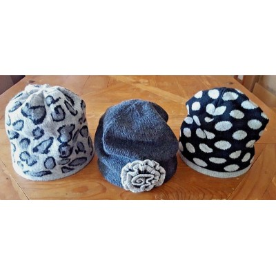 ALL 3  Portolano ColorCoordinated Wool/Cashmere Blend Beanie Skull Caps EUC  eb-95175466