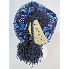 Capelli New York Mujer One Size Purple Blue Pom Knit Beanie Hat Winter Lined NWT 741985283018 eb-78279333