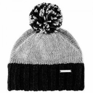 Michael Kors MK Knit Pom Beanie Hat  Black / Grey 888698340307 eb-38513261