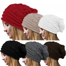 Mujers Winter Hats Ski Knit Skull Chic Slouchy Over Mujer's Beanie Cap Baggy  eb-16529638