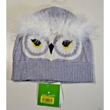 NWT KATE SPADE GRAY WHO ME BEANIE OWL DESIGN W/ FEATHERS KS1001365   eb-77815827