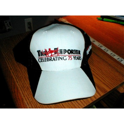 Hat Cap EMBROIDERY LOGO VELCRO HOLLYWOOD REPORTER CELEBRATE 75 YEARS B/W  eb-61019720