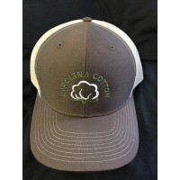 GREY CAROLINA COTTON FARMER RICHARDSON 112 TRUCKER SNAPBACK CAP HAT MESHBACK  eb-82271197
