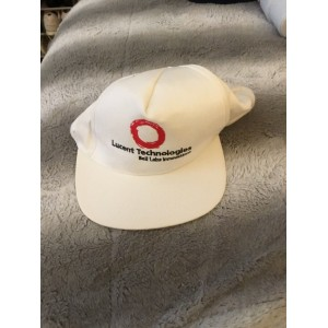 Lucent Technologies Bell Lab Innovations White Baseball Cap  eb-01910974